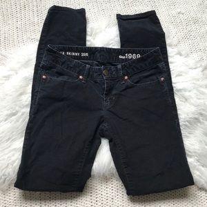 Gap Black Always Skinny Corduroy Jeans - Size 26
